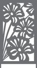 brise-vue et treillis fleurs xxl 993
