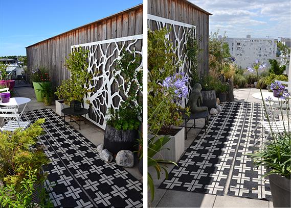 décoration de terrasse sur toit