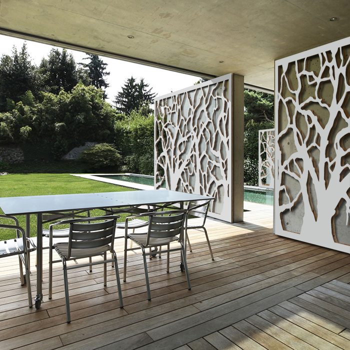 Brise vue terrasse palissadesign d corer un mur for Habillage cloture beton
