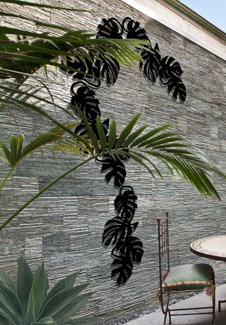 decorer un mur exterieur monstera 3