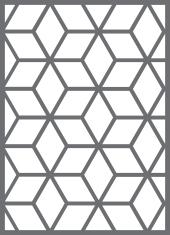 brise-vue et treillis cubes 1460