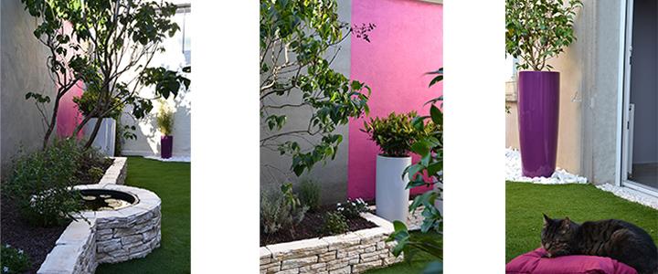 décoration de jardin courette