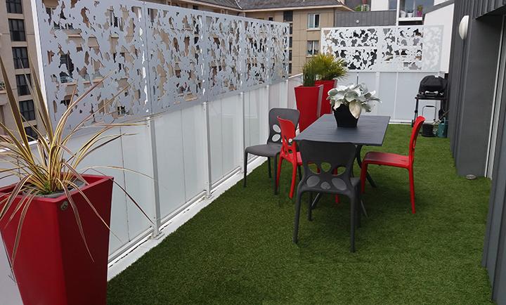 palissade terrasse appartement beautiful awesome deco terrasse appartement with deco terrasse. Black Bedroom Furniture Sets. Home Design Ideas