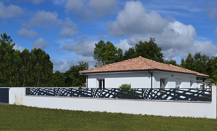Clôture design géométrique - Palissadesign