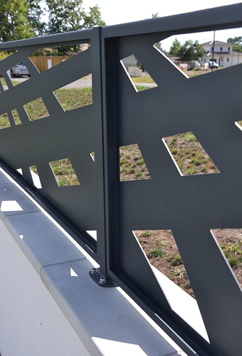 panneau de clôture vue arrière