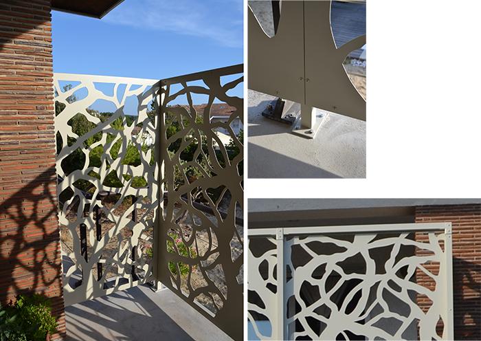 brise-vue de terrasse en aluminium
