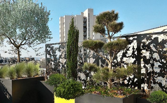 brise-vue de terrasse en étage élevé