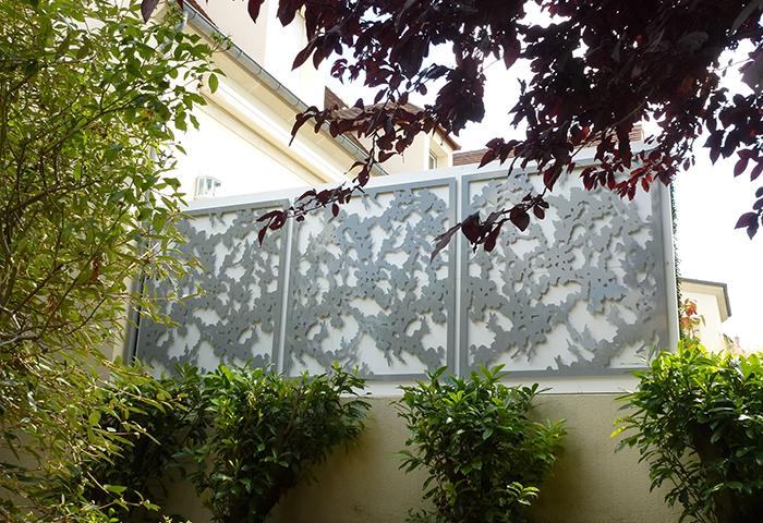 decorer un mur exterieur treillis design