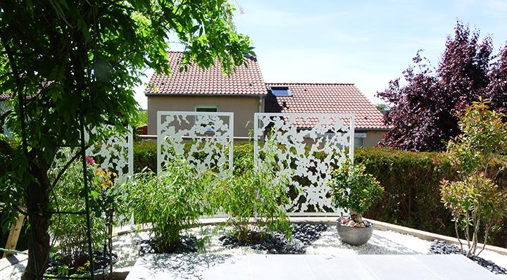 brise vue de jardin