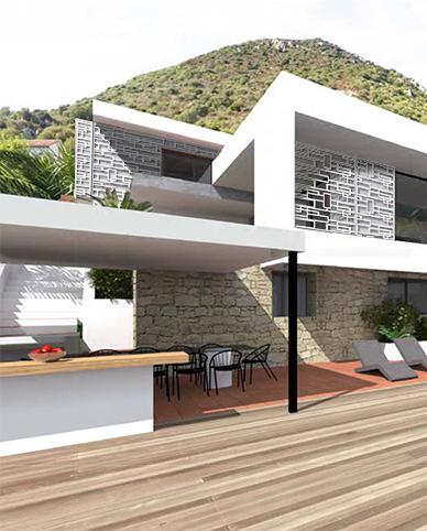 Résille de façade - vue projet