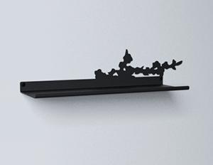 étagère murale cerisier 45 cm