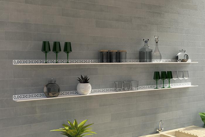 étagère murale dans une cuisine