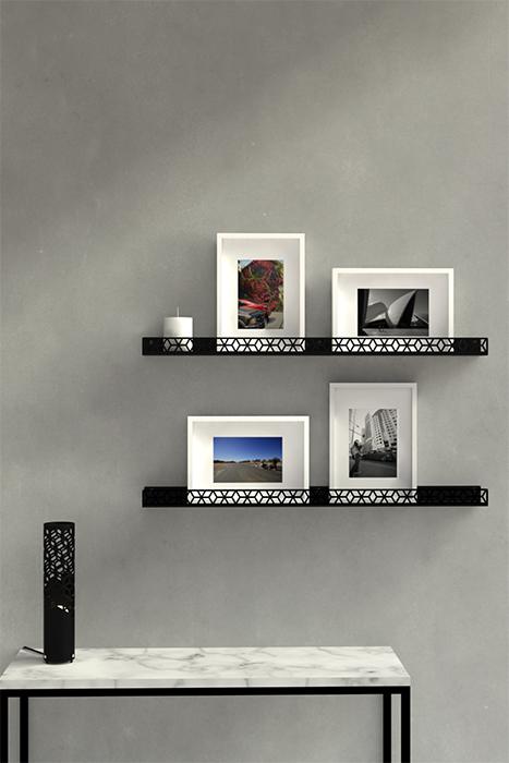 étagère murale pour les cadres et photos