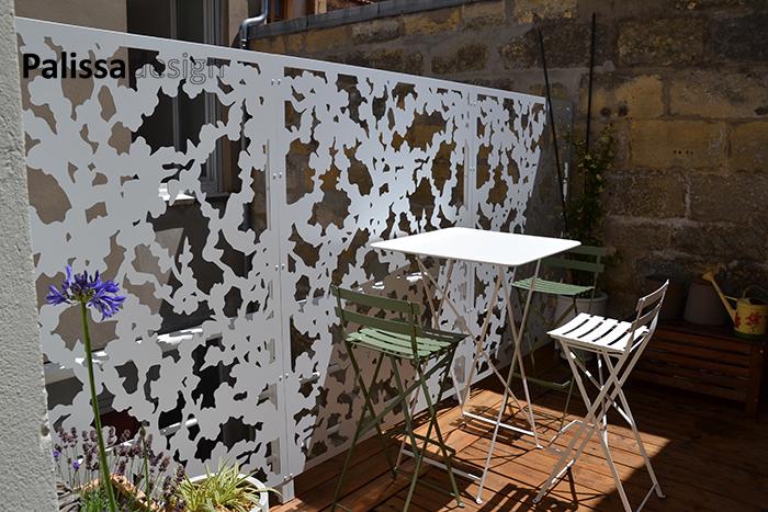 brise vue sur mesure sur mini terrasse à Bordeaux