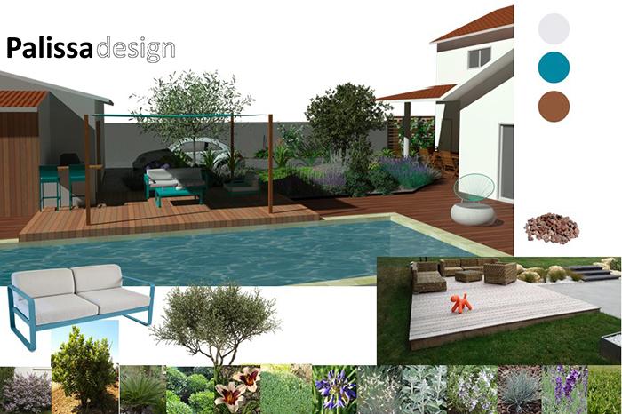 la conception du jardin arrière