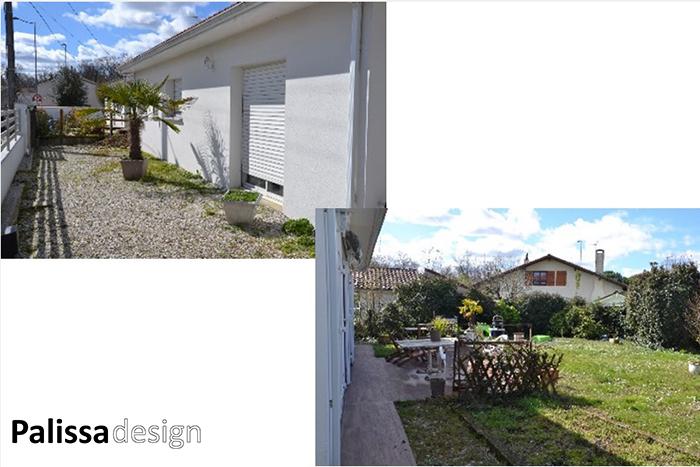 la conception d'un petit jardin à Bordeaux avant l'aménagement