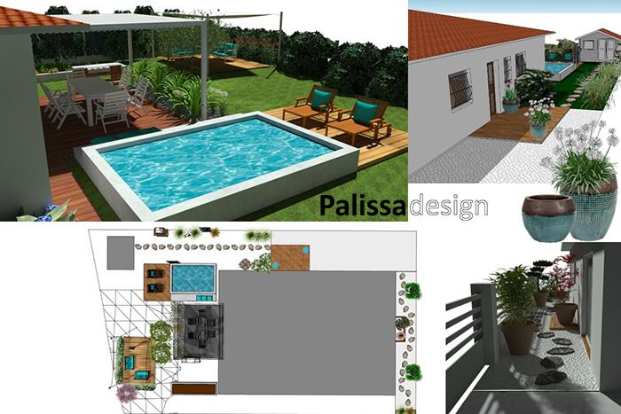 La conception d'un petit jardin à Bordeaux