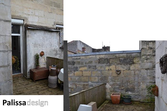 décoration d'une mini terrasse avant l'aménagement