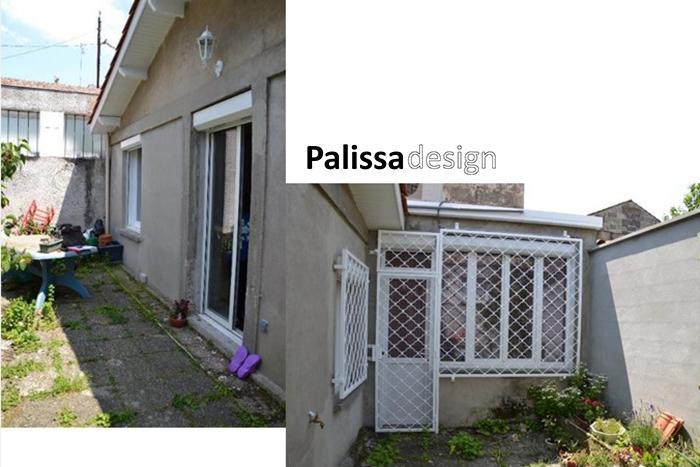 la conception d'un jardin patio avant l'aménagement