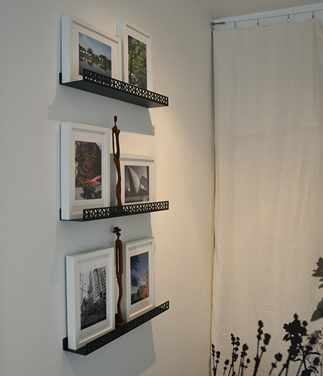 étagère cadres pour mettre en valeur les photos