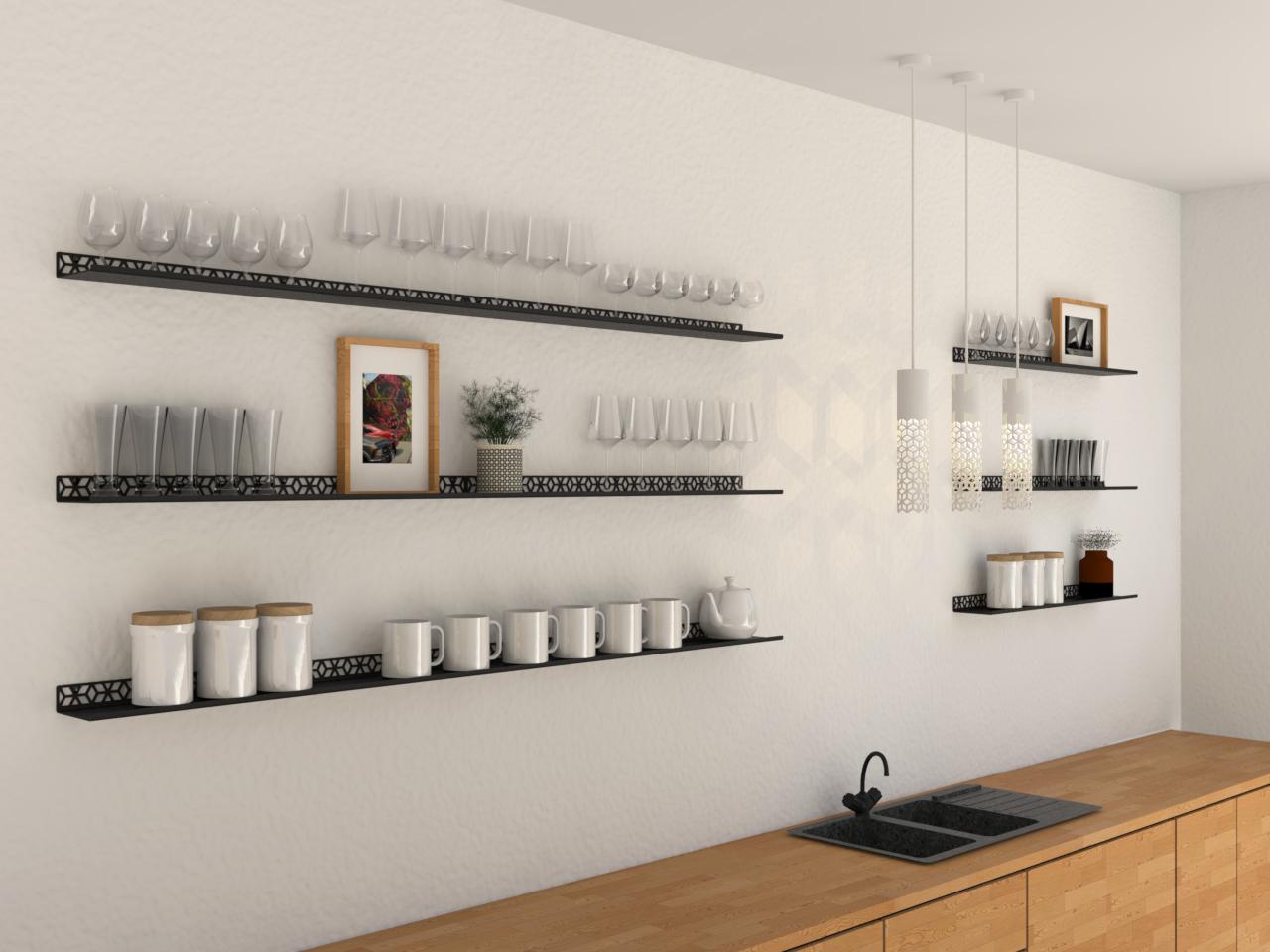 les étagères palissadesign permettent de donner du style à une cuisine