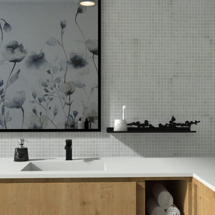 étagère murale pour agrémenter une salle de bain